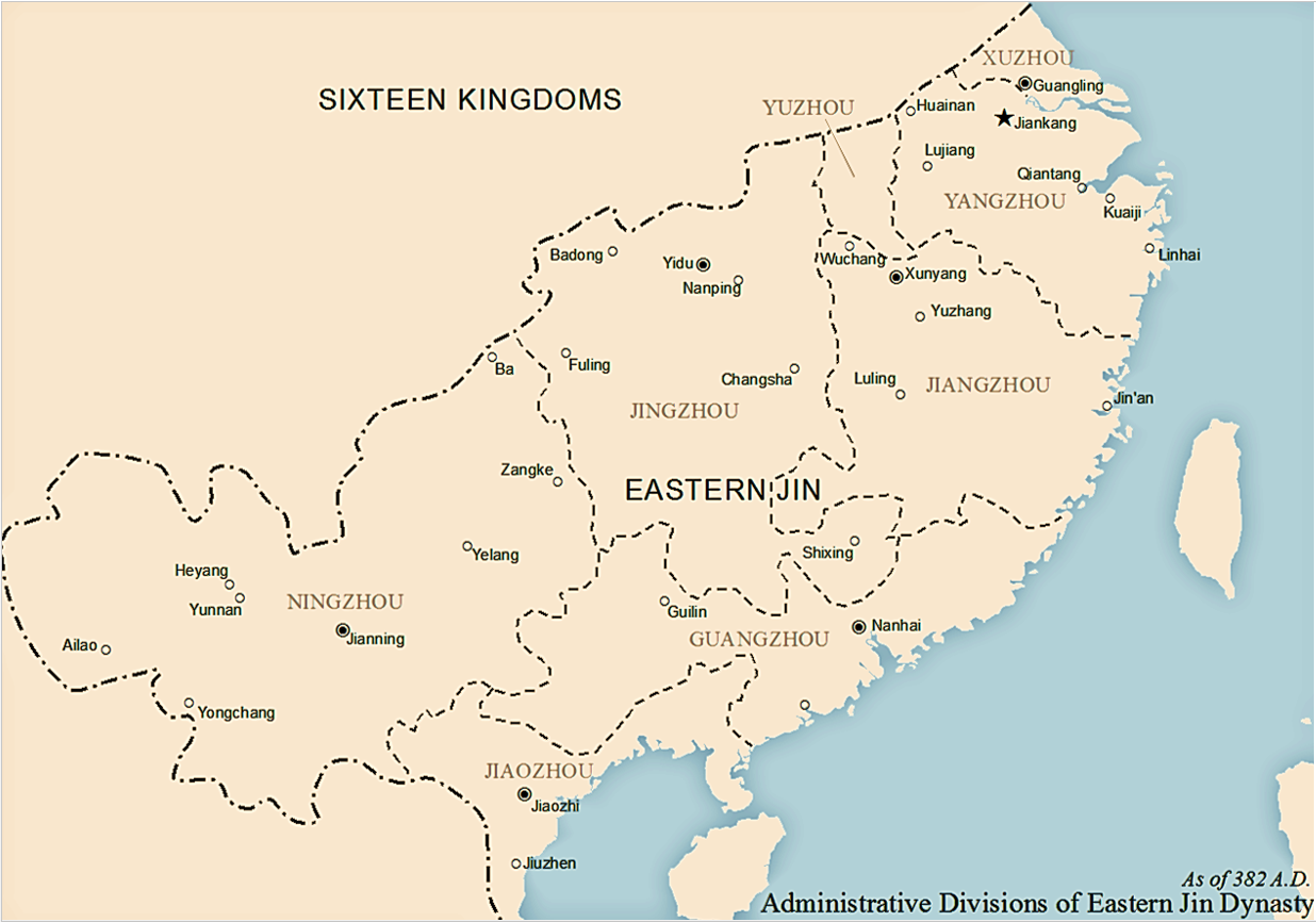 Eastern Jin Administrative Divisions